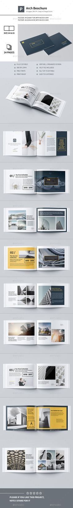 Our Portfolio Architecture 24 Pages A4 & A5 Template InDesign INDD. Download here: http://graphicriver.net/item/our-portfolio-architecture-24-pages-a4-a5/16254091?ref=ksioks #architectureportfolio