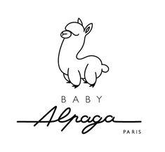 Baby Alpaca logo Source by higginscreative logo Kids Branding, Logo Branding, Branding Design, 2 Logo, Typography Logo, Logo Inspiration, Llamas Animal, Alpaca Drawing, Trendy Baby Clothes