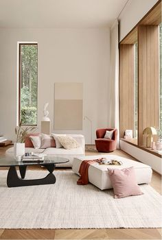 Find out why modern living room design is the way to go! A living room design to make any living room decor ideas be the brightest of them all. Interior Design Minimalist, Decor Interior Design, Furniture Design, Furniture Ideas, Modern Design, Design Interiors, Modern Decor, American Interior, Color Interior