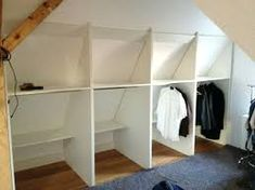 Image result for turning an attic dormer into a closet