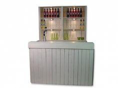 Deze 'White Nature' luxe bar van steigerhout is enorm stijlvol en is daarom uitermate geschikt voor trouwerijen.