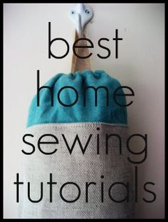 Home sewing tutorials