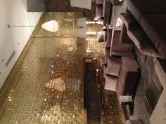 raddison aqua blue hotel in chicago, brand new...this is the lobby. gorgeous