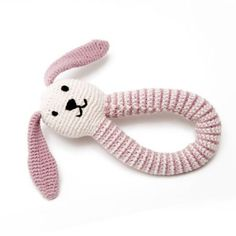 Fair Trade Organic Bunny Rattle in Pink £11.95 #podpastels