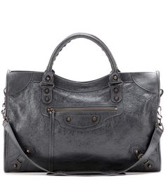 Grey Classic City leather tote