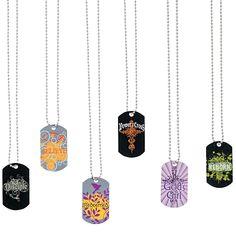 Tween Religious Dog Tag Necklaces - OrientalTrading.com