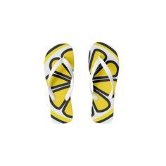 Lemon Flip Flops ❤ liked on Polyvore featuring shoes, sandals, flip flops and lemon shoes