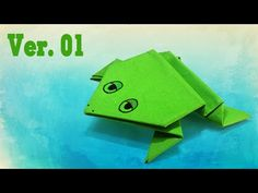 Easy origami - How to make a jumming frog ver.1 #folding #crafts #diy #tutorial