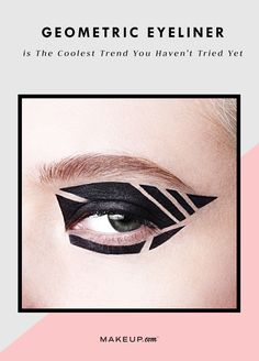 How to get the geometric liner look. #partner