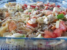 Quorn, Vinaigrette, Mozzarella, Feta, Ethnic Recipes, Salads, Tomatoes, Vinaigrette Dressing