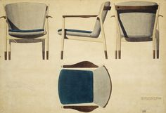 Juhl's working chair drawings, from DesignMuseeum Danmark//DMD_Juhl_Drawing1