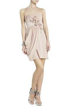EMILY STRAPLESS DRESS WITH ROSETTES
