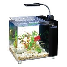 15L Aquarium Fish Tank Tropical Fresh Water With LED Light, Heater and Filter