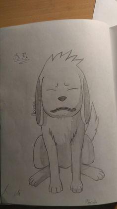 This is Akamaru, Inuzuka Kiba's partner, from Naruto.