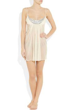 c2434a96066a0 Jenny Packham - Swarovski crystal-embellished silk-chiffon chemise