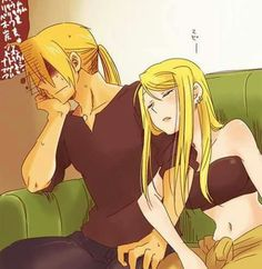 Ed and winry ❤️❤️❤️