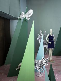 """MAX&CO.,Milan,Italy, """"Silent Forest"""", creative by StudioPepe, close-up, pinned by Ton van der Veer"""