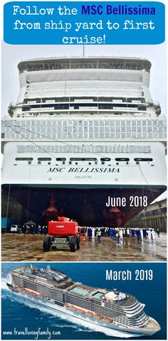 MSC Bellissima ship yard to first cruise