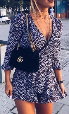 #summer #outfits / pattern print playsuit