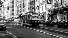 Czech Tram - Local Czech transportation. The Tram.  A great way to get around the city.