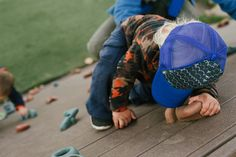 For the active kid.  These are the coolest hats.  Trucker hats for toddlers. Climbing kids...
