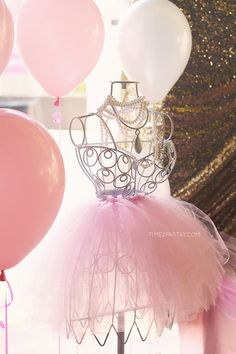 Wire Dress Form from a Pink & Gold Princess Party via Kara's Party Ideas | KarasPartyIdeas.com | The Place for All Things Party! (21)