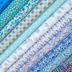 Lovely blue fat quarter selection from the new Liberty Alice in Wonderland collection - on pre-order now.
