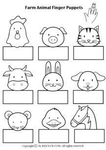 Farm Animal Finger Puppets  VISTES ESCOLARS (Animals de granja)