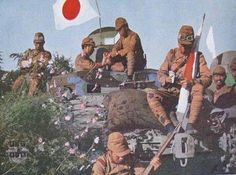 """Japanese Forces - Type 2595 Armored Railroad Car """"So-Ki"""" crew man taking a break during the pacification of manchuria (1939)"""