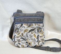 Crossbody Zipped Bag, Crossbody Tote, Quilted Bag, Gray, Womans Tote, Zipped Crossbody, Medium Bag by rosemontbags on Etsy