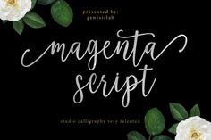 Magenta Script Font @creativework247