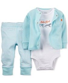 Carter's Baby Boys' 3-Pc. Cardigan, Bodysuit & Pants Set