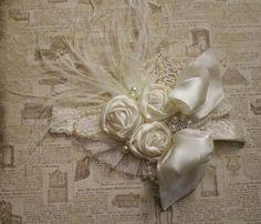 Diadema marfil flor en flores cualquier tamaño por lexicouture
