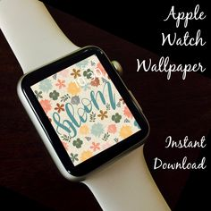 Watch Wallpaper / Apple Watch / FitBit / Smartwatch / Watch Background Best Apple Watch, Apple Watch Faces, Star Watch, Share Icon, Apple Watch Wallpaper, Etsy Handmade, Cool Gifts, Cool Watches, Hand Lettering