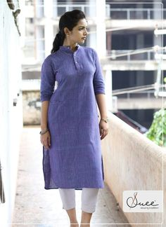 Kurti With Jeans, Kurta With Pants, Casual Work Outfits, Work Casual, Kurti Styles, Kurta Neck Design, Kurta Palazzo, Indian Suits, Curvy Girl Fashion