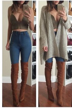6e57ad866f8 Faux Suede Thigh-High Boots - Tan- FINAL SALE Tan Boots Outfit