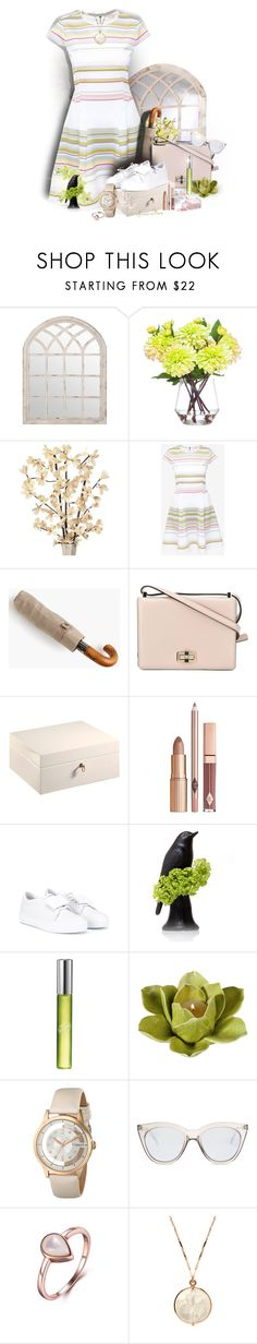 """""""Day Out"""" by kansasmom ❤ liked on Polyvore featuring Lux-Art Silks, Ted Baker, ShedRain, Christian Dior, Diane Von Furstenberg, Agresti, Acne Studios, DKNY, Dot & Bo and Stührling"""