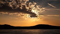 Sunset over Ramsey Island