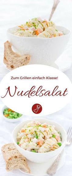 Salat Rezepte, Grillen Rezepte: Weltbester Nudelsalat Rezept wie von Mutti auf herzelieb. Cremig und mit Mayonnaise. Schmeckt auch zu jeder Party! #nudeln #salat #grillen