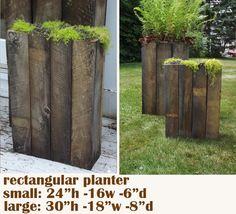 Minka - Planters: Modern Rustic Barnwood Planters....love these!!