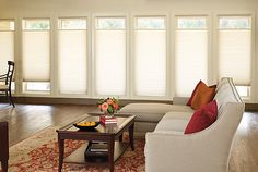 Best Quality Modern Window Shades Blinds 632 x 454 · 50 kB · jpeg Condo Living Room, Dining Room, Modern Window Treatments, Cellular Shades, Cellular Blinds, Honeycomb Shades, Modern Windows, Large Windows, Custom Blinds