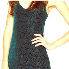 Green velvet floor length lucky brand dress Like new worn once. XS emerald green velvet. Floral pattern. Fully lined. Lucky Brand Dresses
