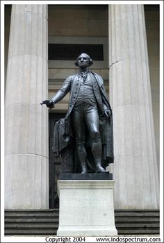 Washington Statue and Federal Building, Wall Street, New York City