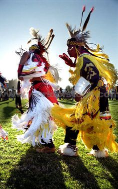 Native American Dancers perform at a PowWow in Grand Rond, Oregon. Photo by Daniel Hurst.