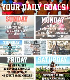 Weekly Goals - like how you can change it up every day :)