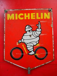 Old placard Michelin by RetroVintage1920 on Etsy, €290.00