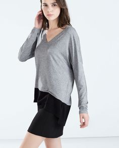 ZARA - WOMAN - V-NECK T-SHIRT