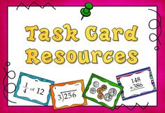 Pinterest board from Laura Candler with free resources and products for using task cards in the classroom. Many of these items are aligned with CCSS.