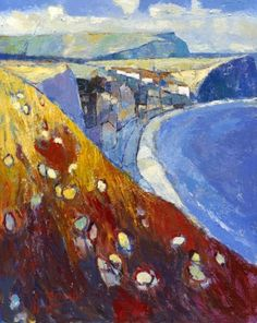 Summer moving into Autumn overlooking Staithes,near Whitby North Yorkshire UK. #NYorks #Art #Painting