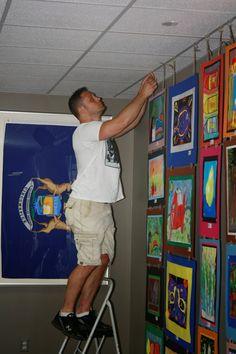 Jamestown Elementary Art Blog: How to set up an AWESOME Art Show!!!